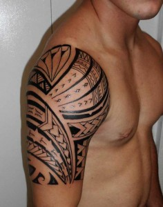 Tribal Shoulder Tattoos for Guys