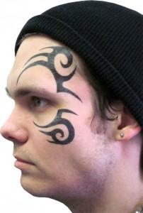 Tribal Tattoo Face
