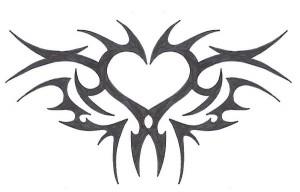 Tribal Tattoo Heart