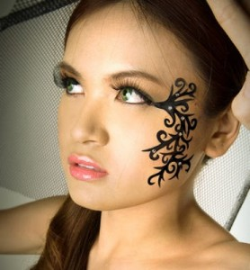 Tribal Tattoo on Face