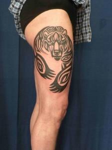 Tribal Tattoos Thigh