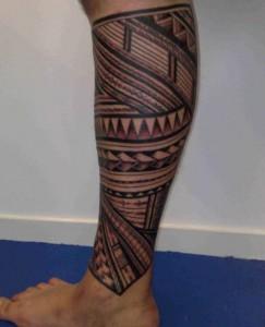 Tribal Tattoos on Legs