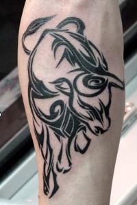Tribal Taurus Bull Tattoo