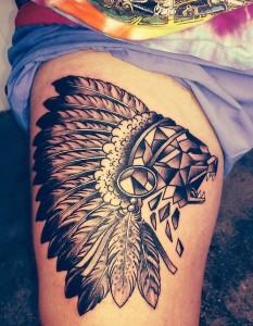 Tribal Thigh Tattoos Female