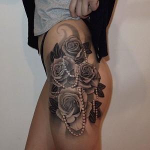 Tribal Thigh Tattoos for Women