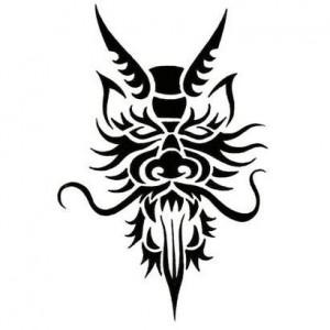 Tribal Warrior Mask Tattoo