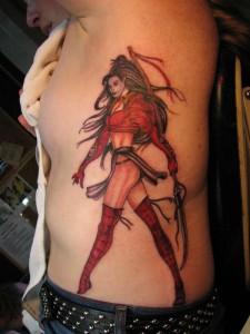 Tribal Warrior Woman Tattoo