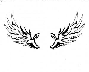 Tribal Wing Tattoo