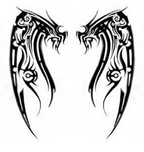 Tribal Wing Tattoo Designs