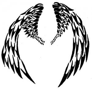 Tribal Wing Tattoos