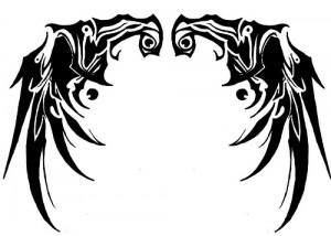 Tribal Wings Tattoos