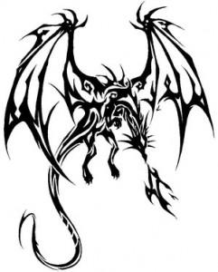 Dragon Tattoos Tribal