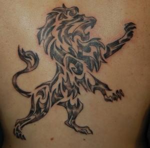 Lion Tattoo Tribal