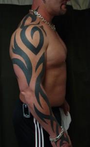 Tribal Arm Sleeve Tattoo