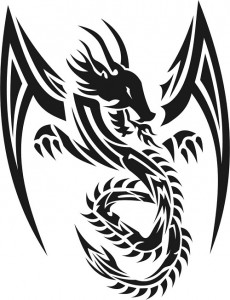 Tribal Dragon Tattoo Images