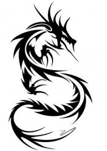Tribal Dragon Tattoos Designs
