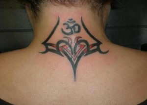 Tribal Tattoos for Women on Neck