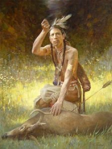 Wampanoag Indians Hunting