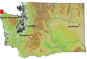 Makah Tribe Map