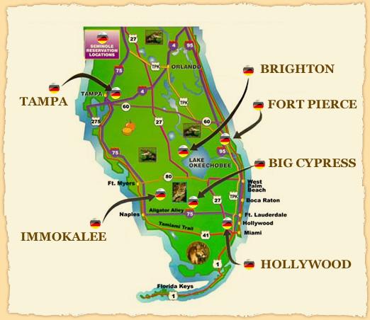 Casinos In Florida Map Florida Map Of Casinos | Verkuilenschaaij Casinos In Florida Map